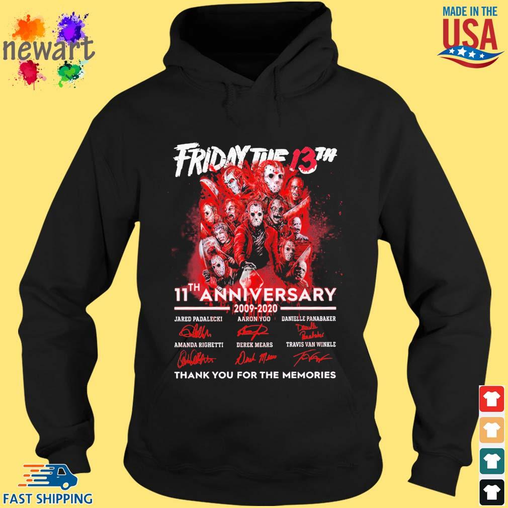 Friday the 13th 11th anniversary 2009 2020 signatures thank you for the memories s hoodie den