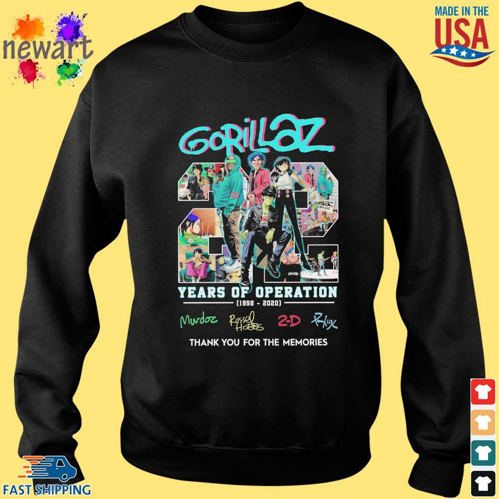 gorillaz 22 years of operation 1998-2020 thank you for the memories s Sweater den