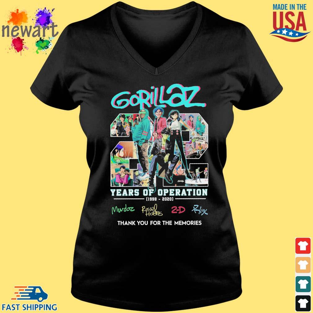 gorillaz 22 years of operation 1998-2020 thank you for the memories s Vneck den