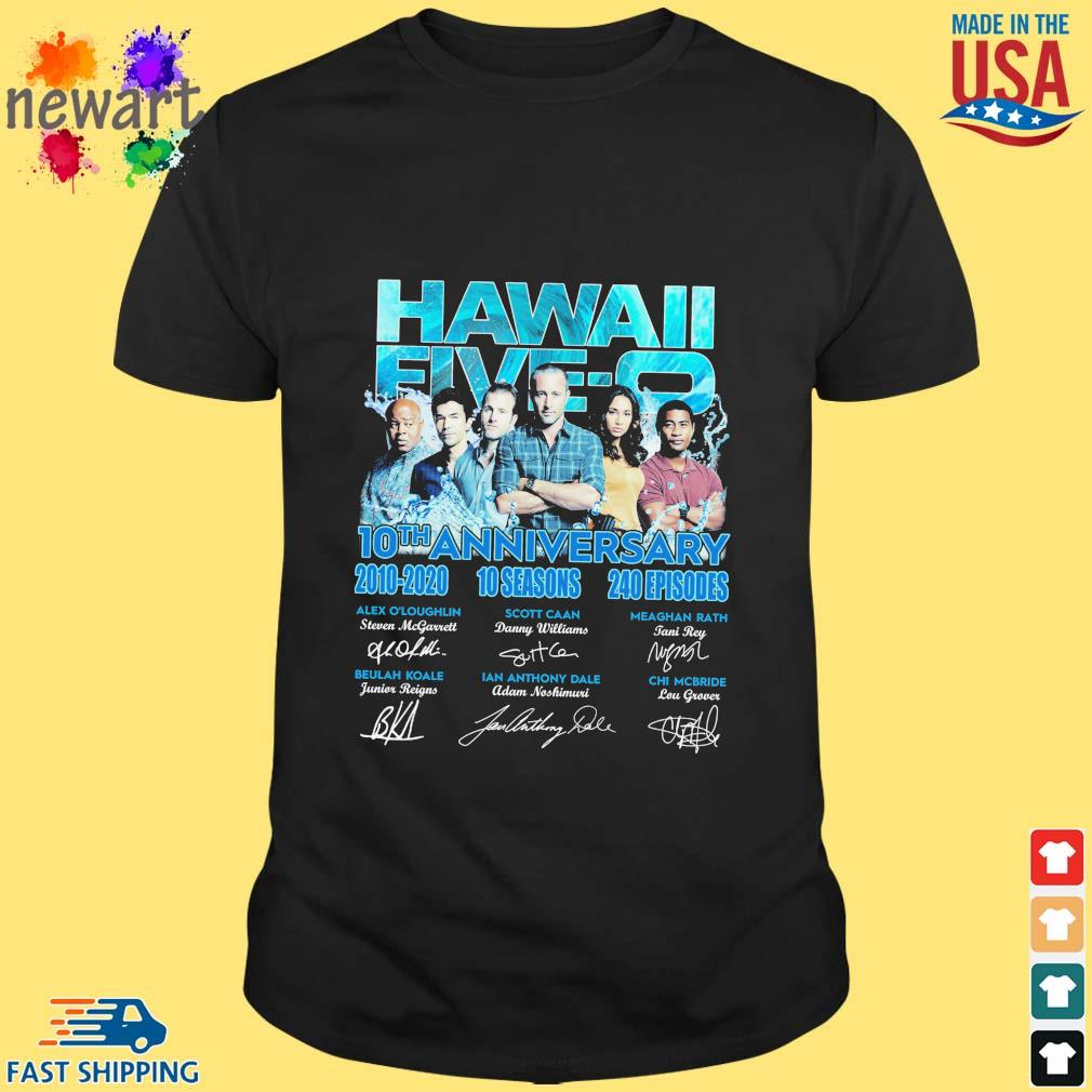 Hawaii Five-o 10th anniversary 2010-2020 10 seasons 240 episodes signatures shirt