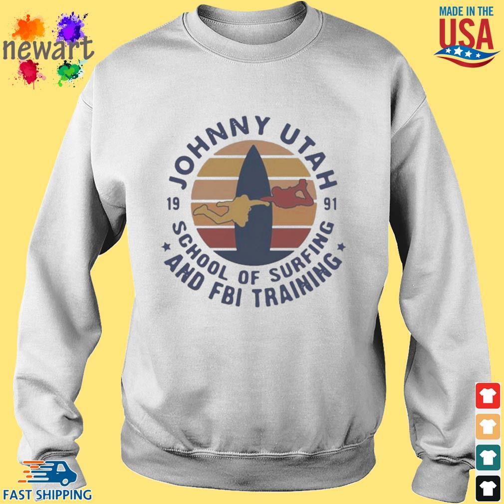 Johnny utah 1991 school of surfing and FBI training vintage s Sweater trang