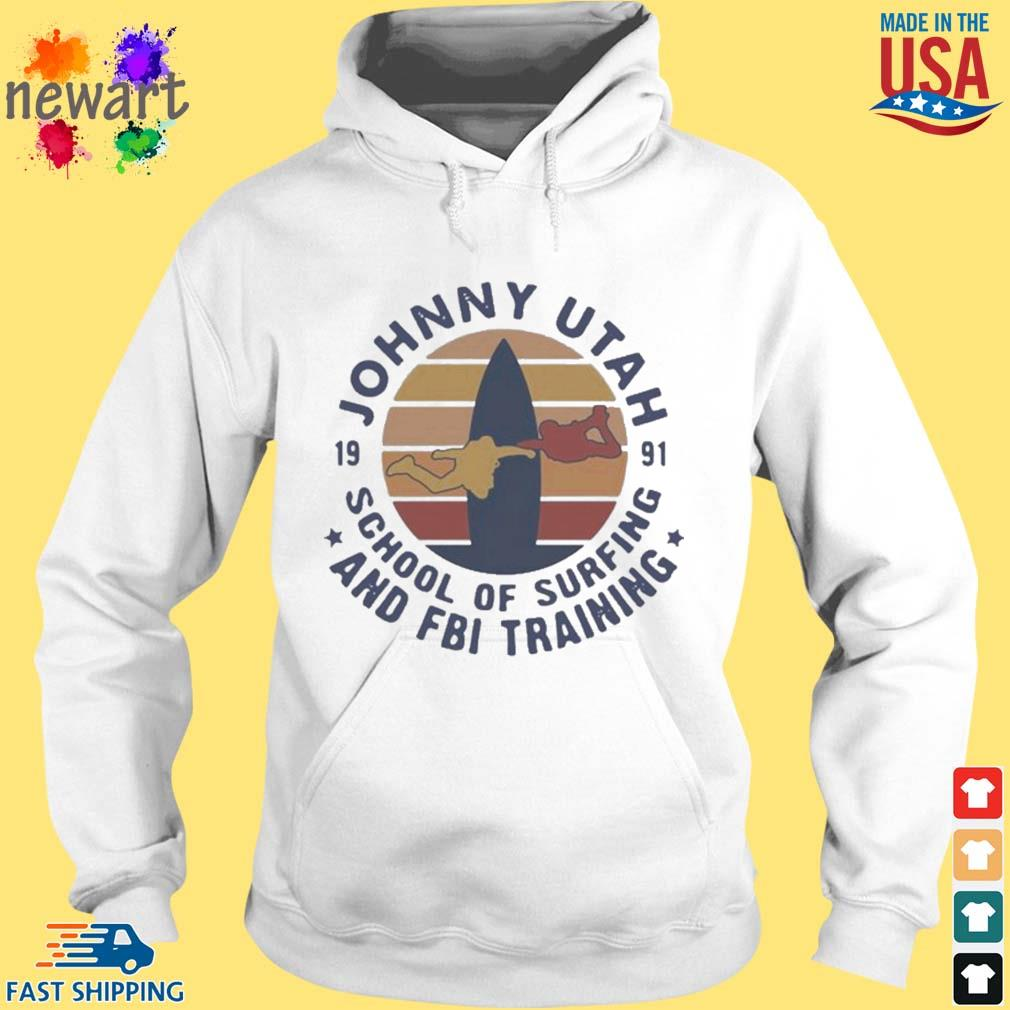 Johnny utah 1991 school of surfing and FBI training vintage s hoodie trang