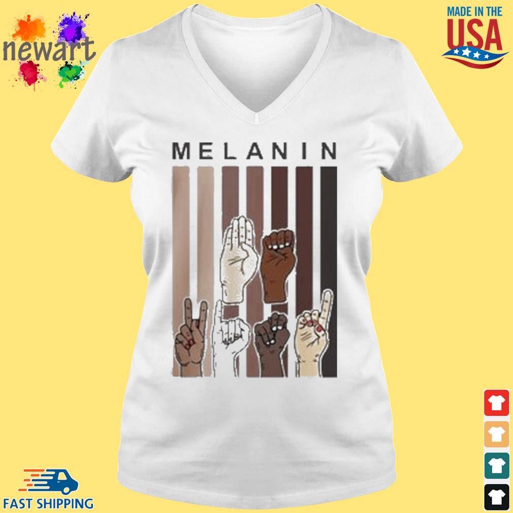 Melanin Hands s vneck trang