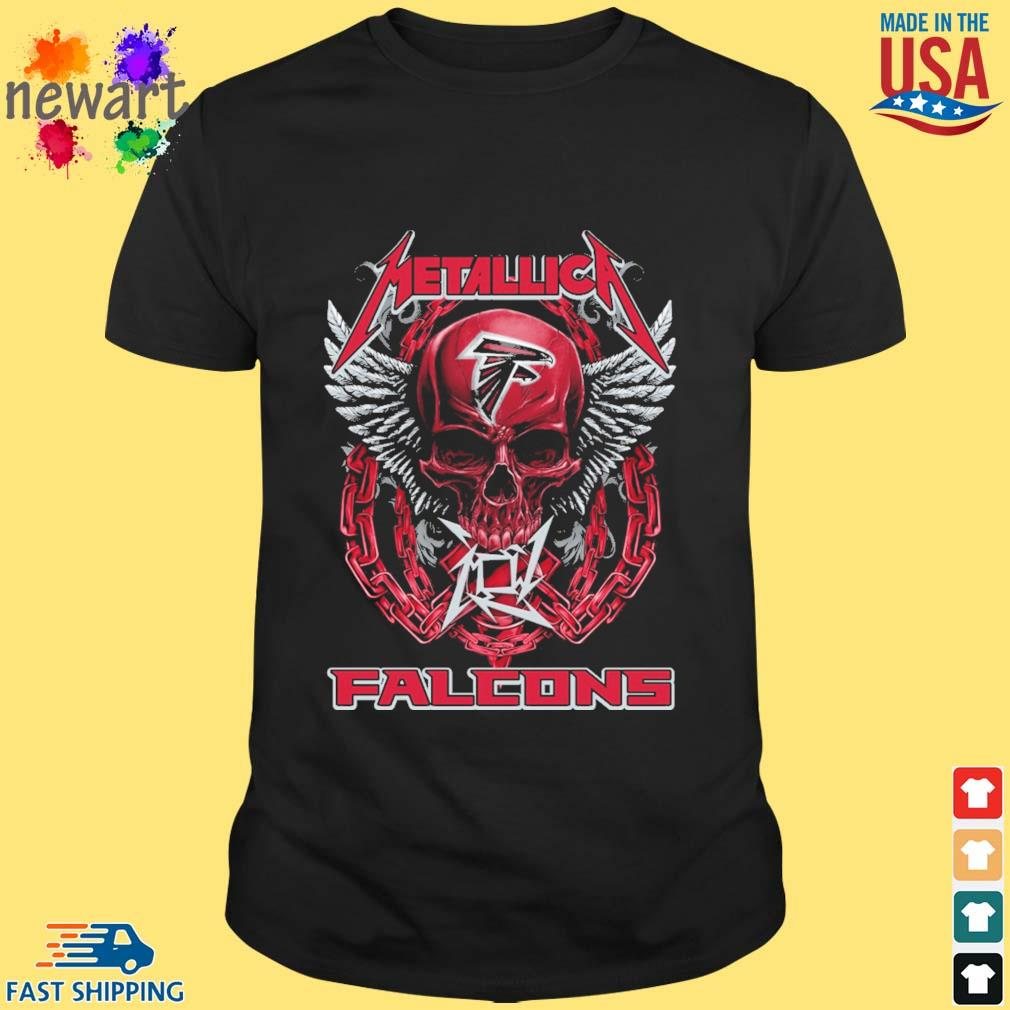 Skull metallica Atlanta Falcons logo shirt