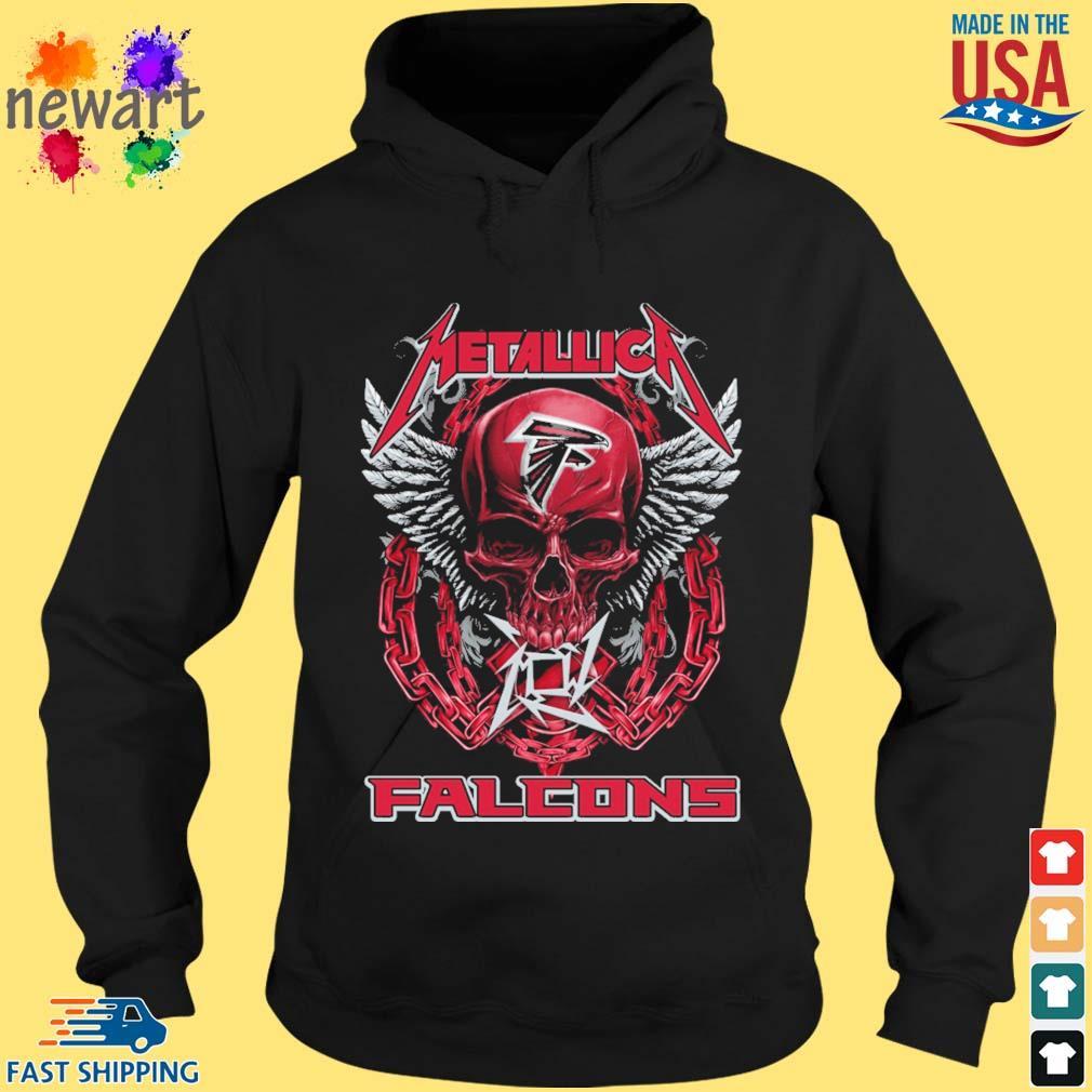 Skull metallica Atlanta Falcons logo s hoodie den
