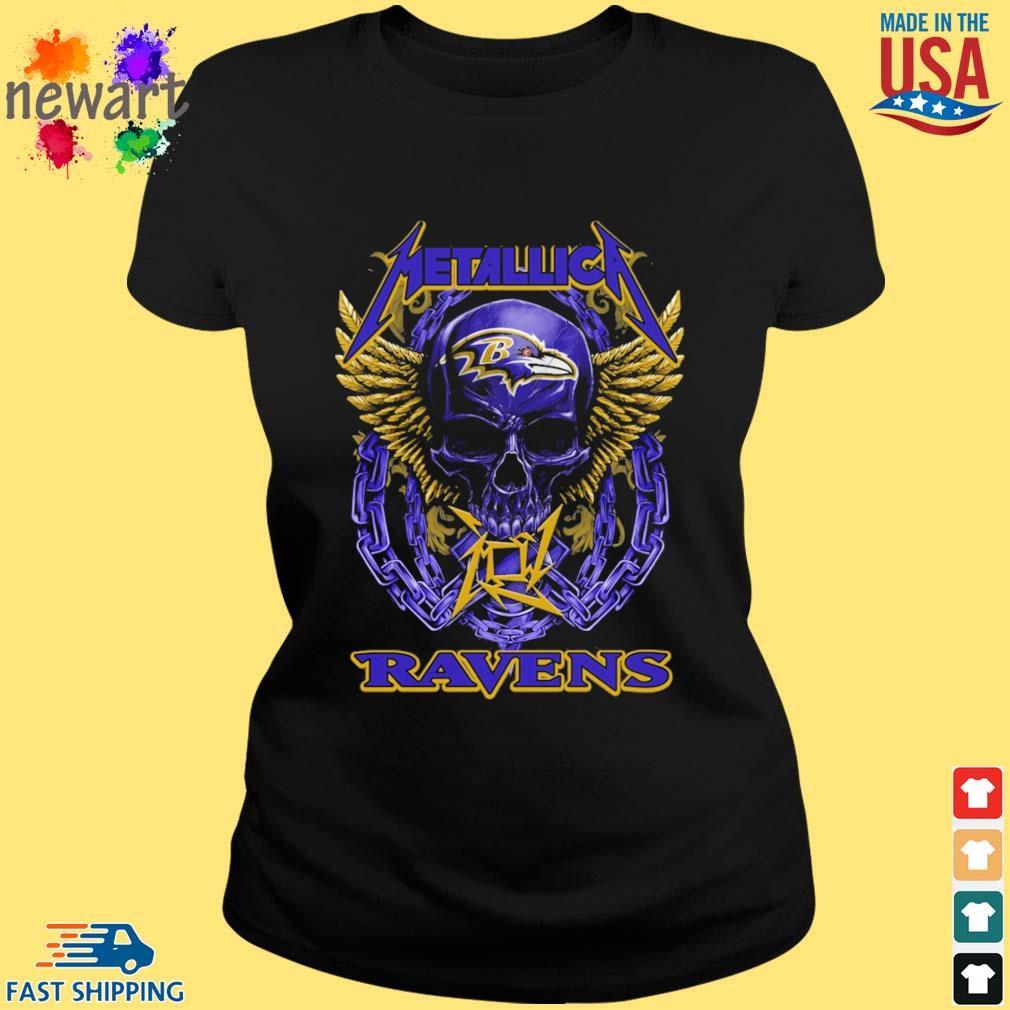 Skull metallica Baltimore Ravens logo s ladies den