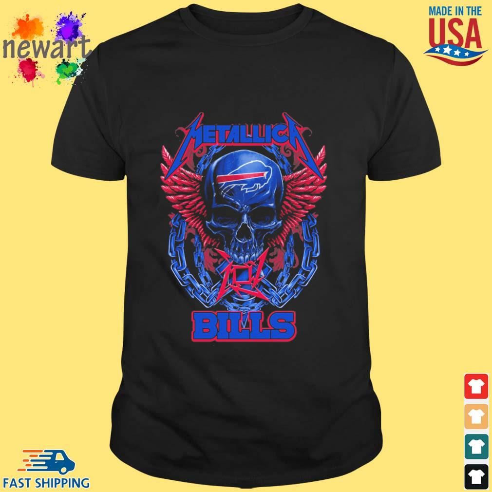 Skull metallica Buffalo Bills logo shirt