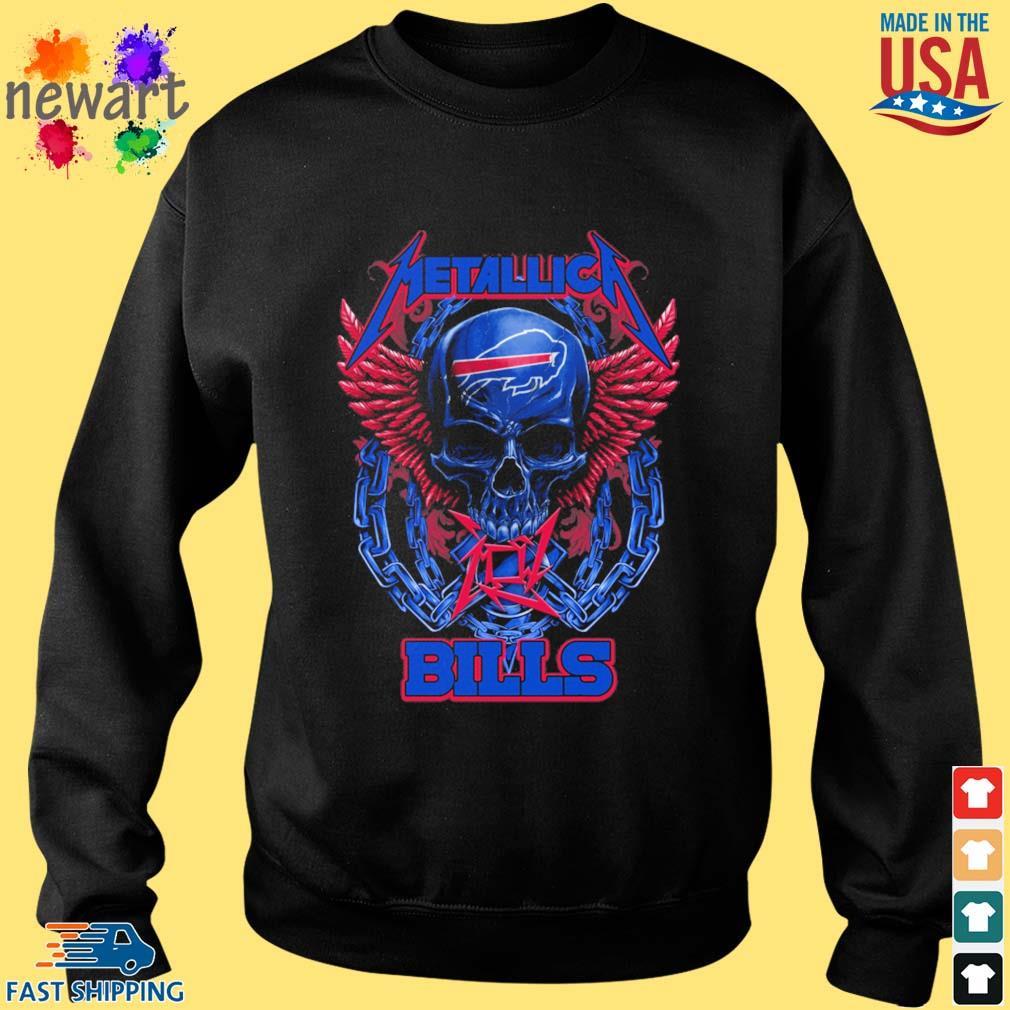 Skull metallica Buffalo Bills logo s Sweater den