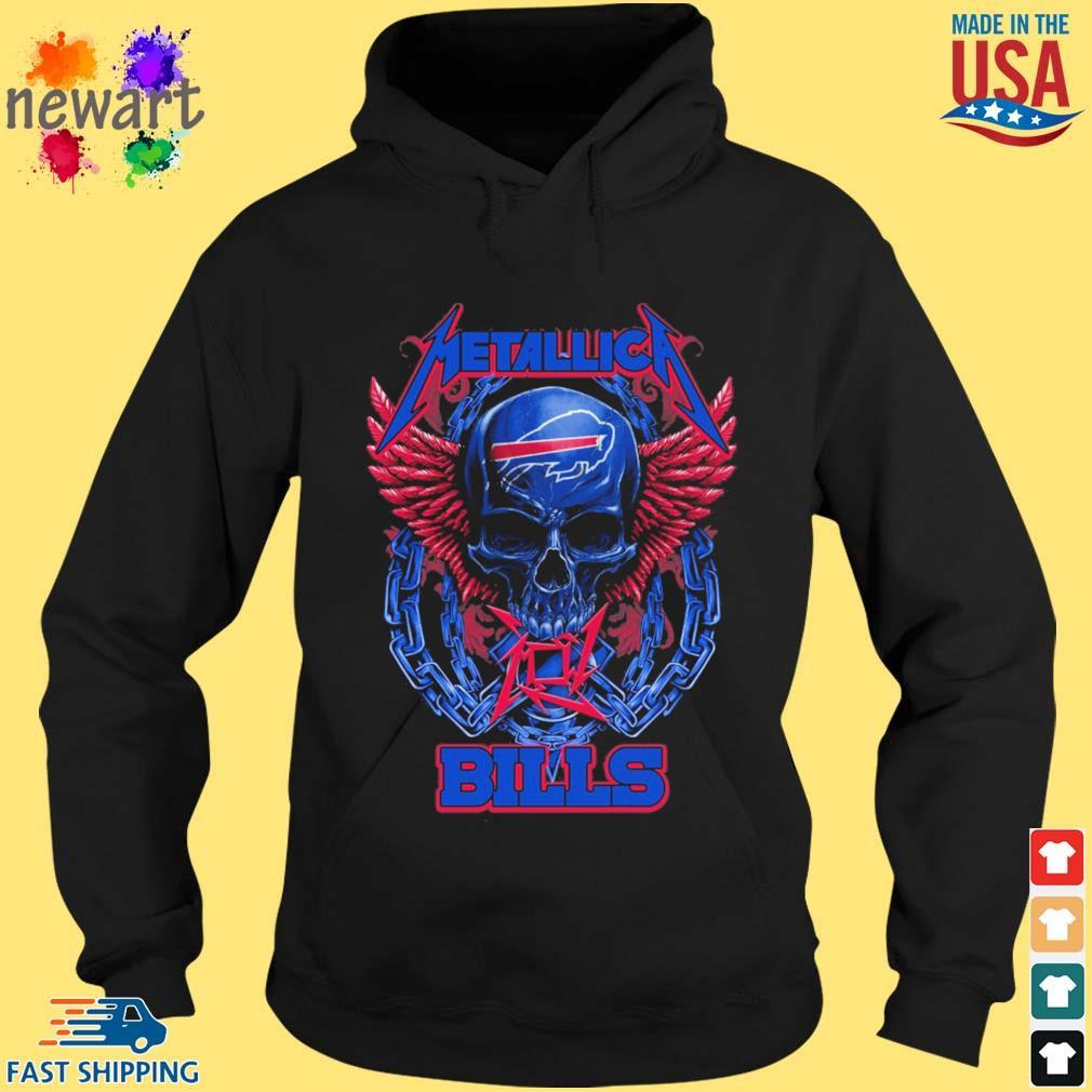 Skull metallica Buffalo Bills logo s hoodie den