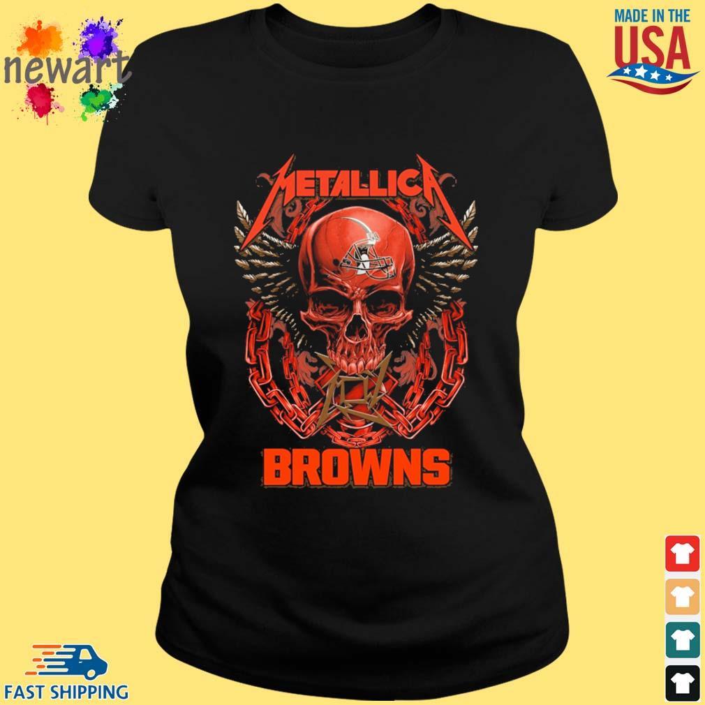 Skull metallica Cleveland Browns logo s ladies den