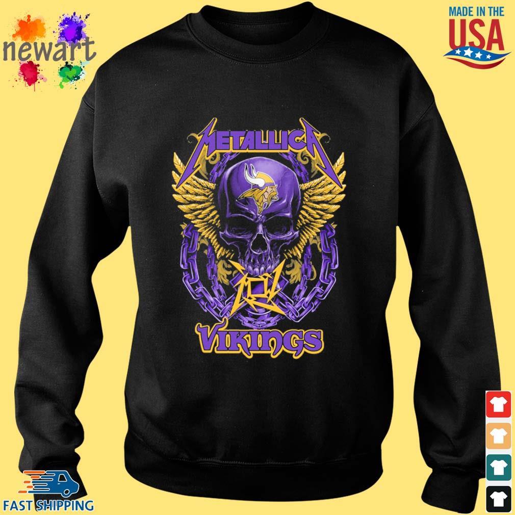 Skull metallica Minnesota Vikings logo s Sweater den