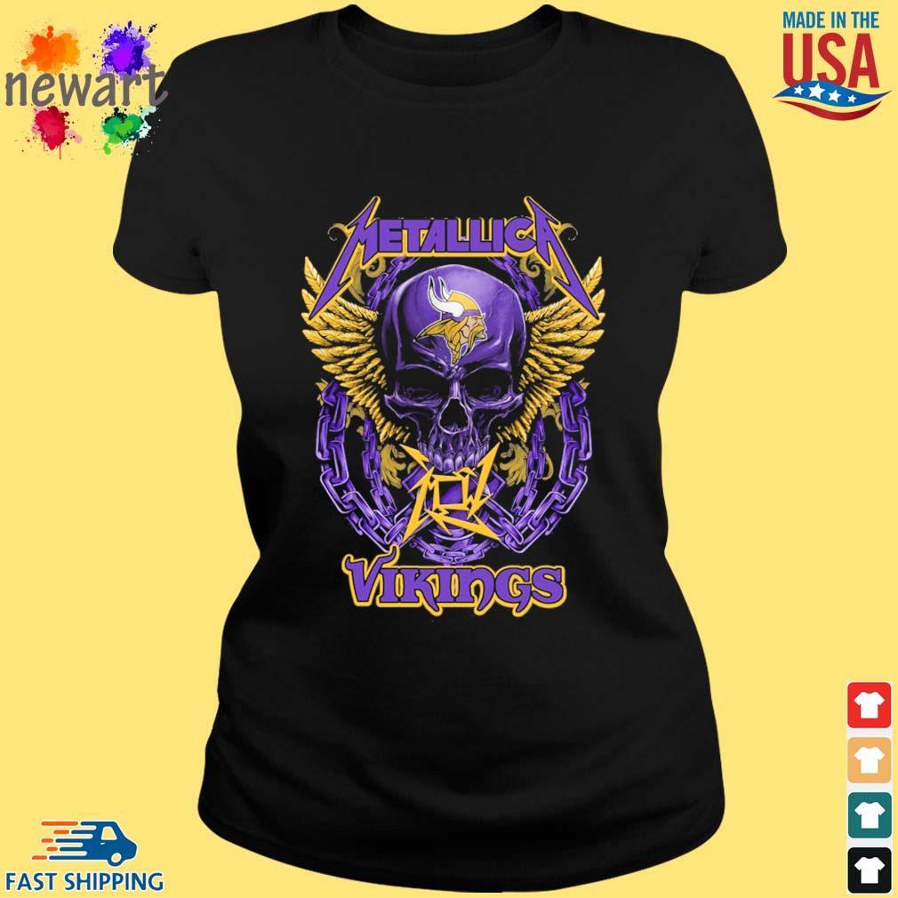 Skull metallica Minnesota Vikings logo s ladies den