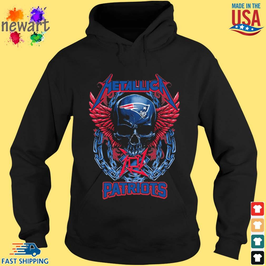 Skull metallica New England Patriots logo s hoodie den