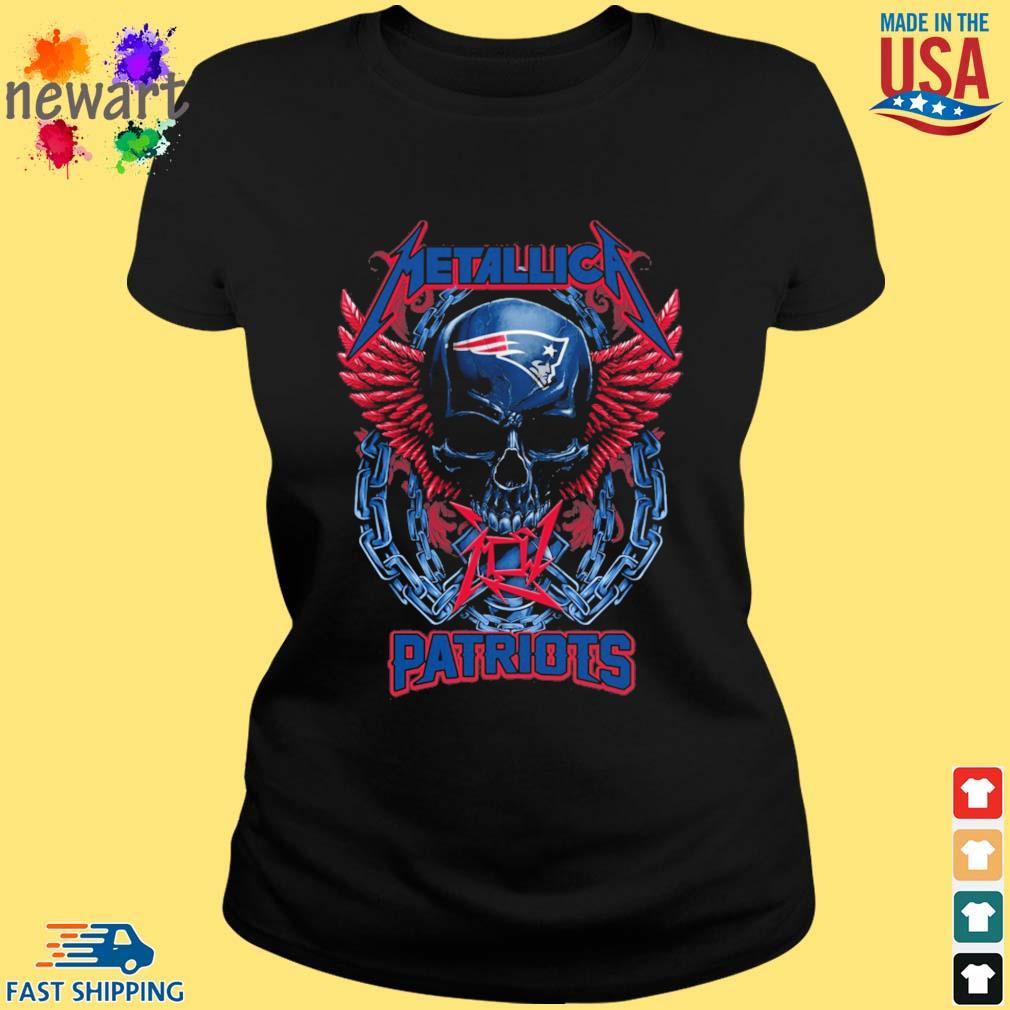 Skull metallica New England Patriots logo s ladies den