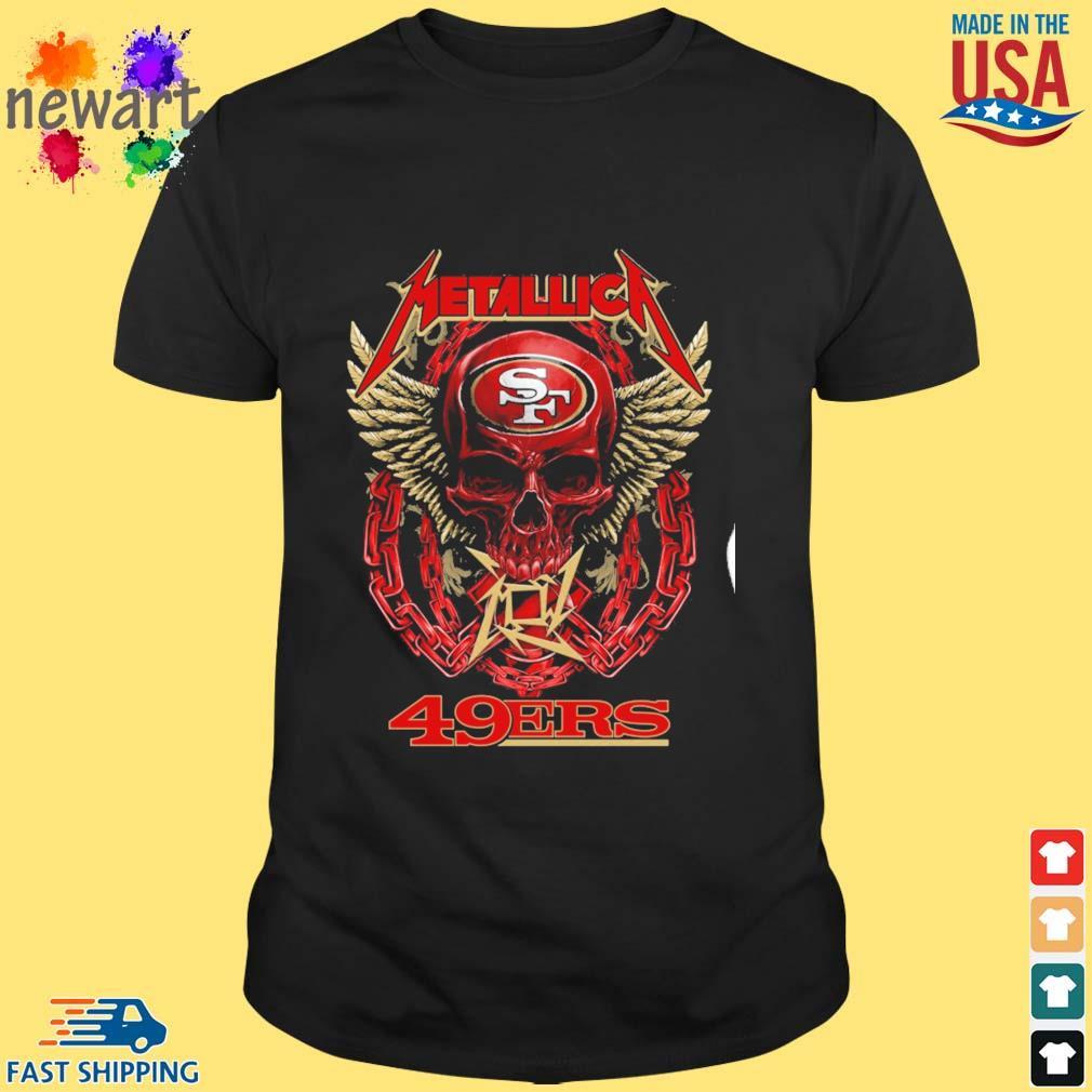 Skull Metallica San Francisco 49ers shirt