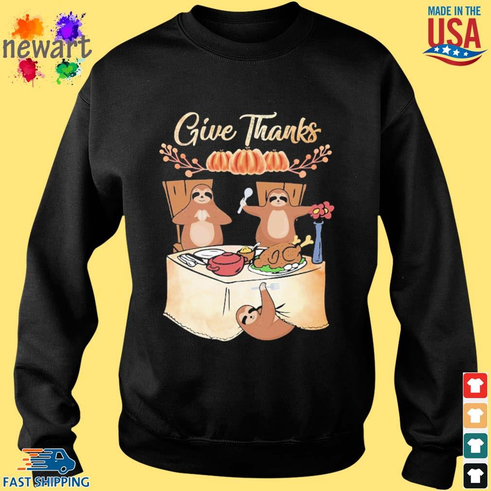 Sloths give thanks party s Sweater den