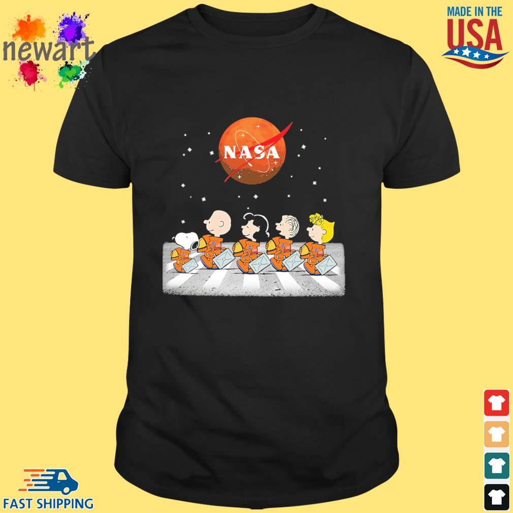 The Peanuts Abbey Road Nasa shirt
