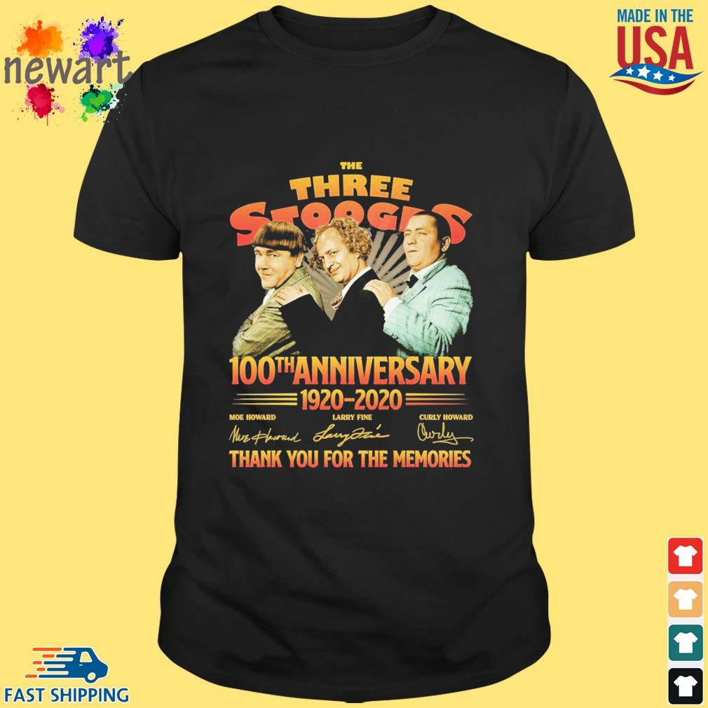 The three stooges 100th anniversary 1920-2020 thank you for the memories shirt