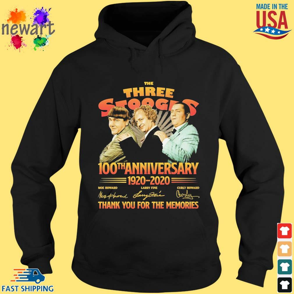The three stooges 100th anniversary 1920-2020 thank you for the memories s hoodie den