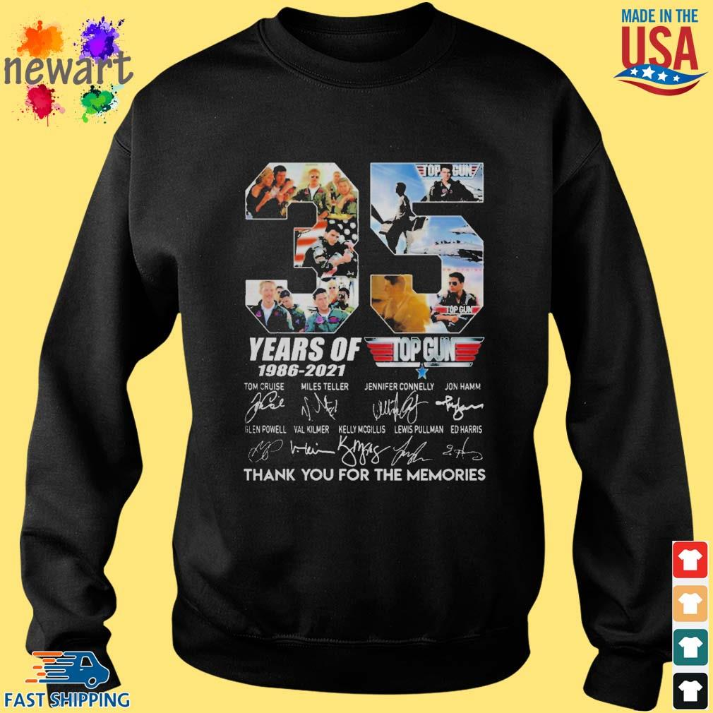 Top gun 35 years of 1986-2021 thank you for the memories signature s Sweater den