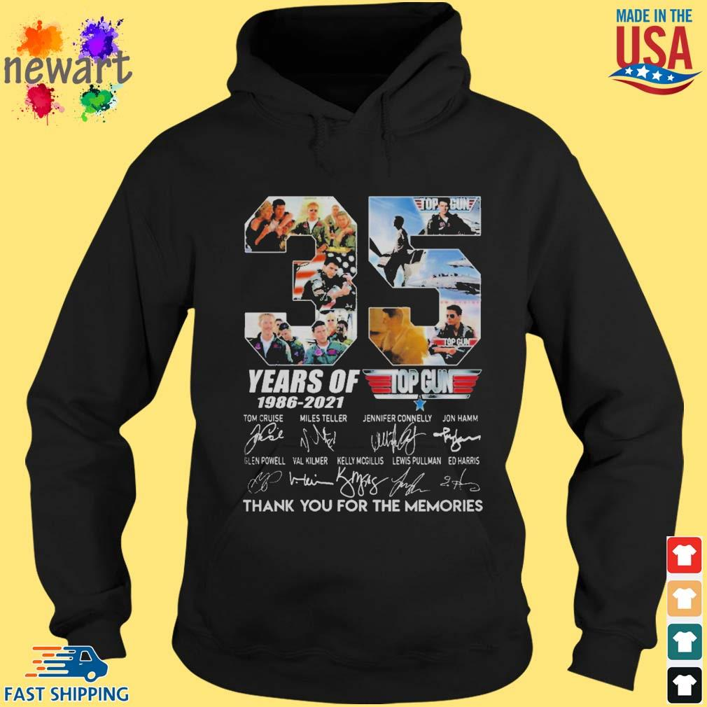Top gun 35 years of 1986-2021 thank you for the memories signature s hoodie den