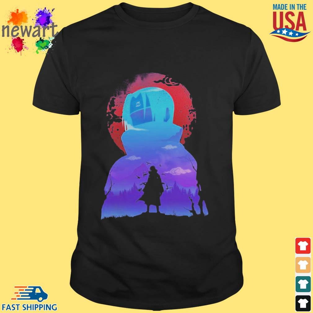 Uchiha itachi akatsuki midnight blood moon shirt