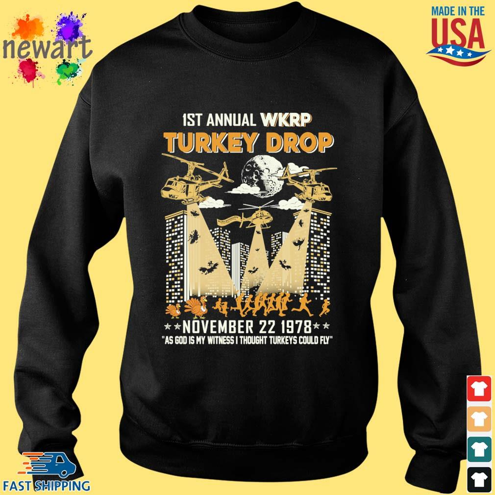 1st annual Wkrp Turkey drop november 22 1978 as god My witness I thought Turkeys could fly s Sweater den