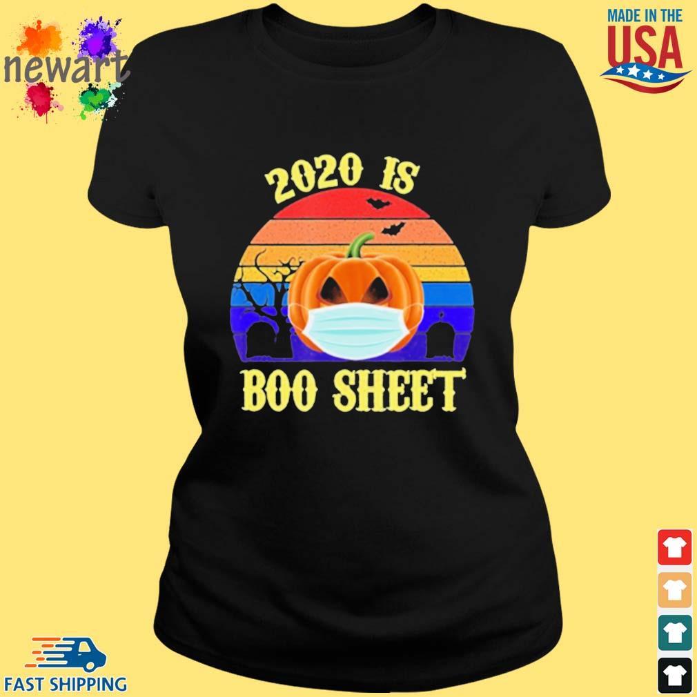 2020 Is Boo Sheet Pumpkin Wearing A Mask Halloween vintage s ladies den