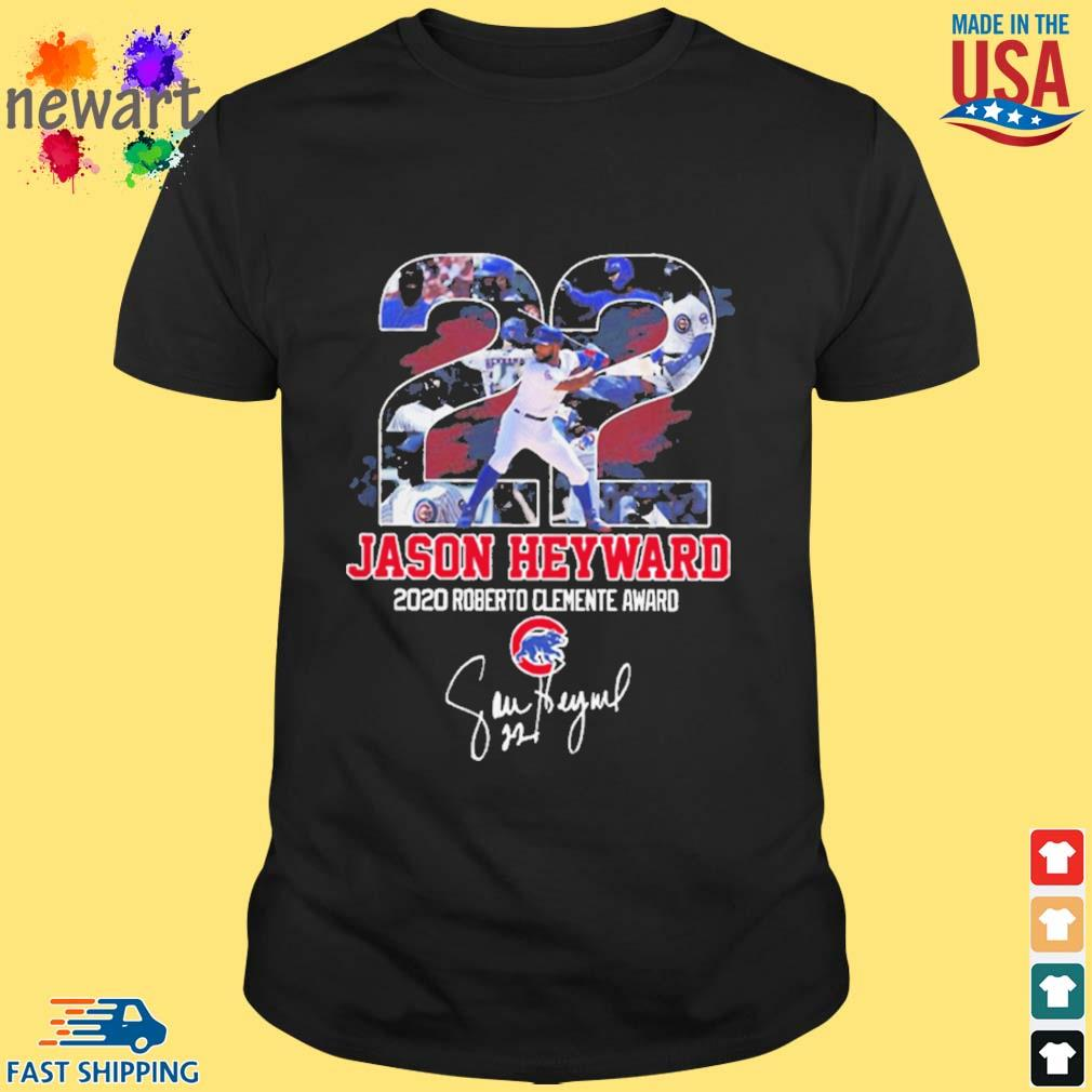 22 Jason Heyward 2020 Roberto Clemente Award Signature shirt
