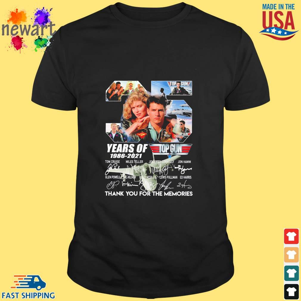 35 years of top gun 1986-2021 thank you for the memories signatures shirt