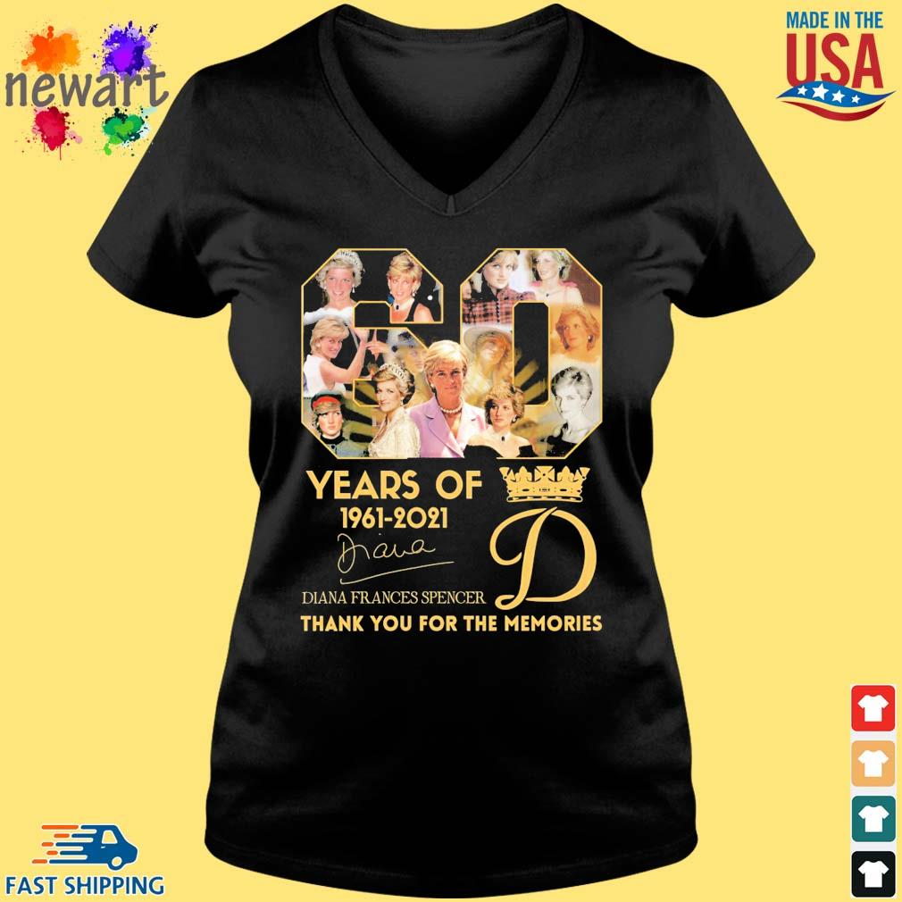 60 years of 1961-2021 Diana Frances Spencer thank you for the memories signature s Vneck den