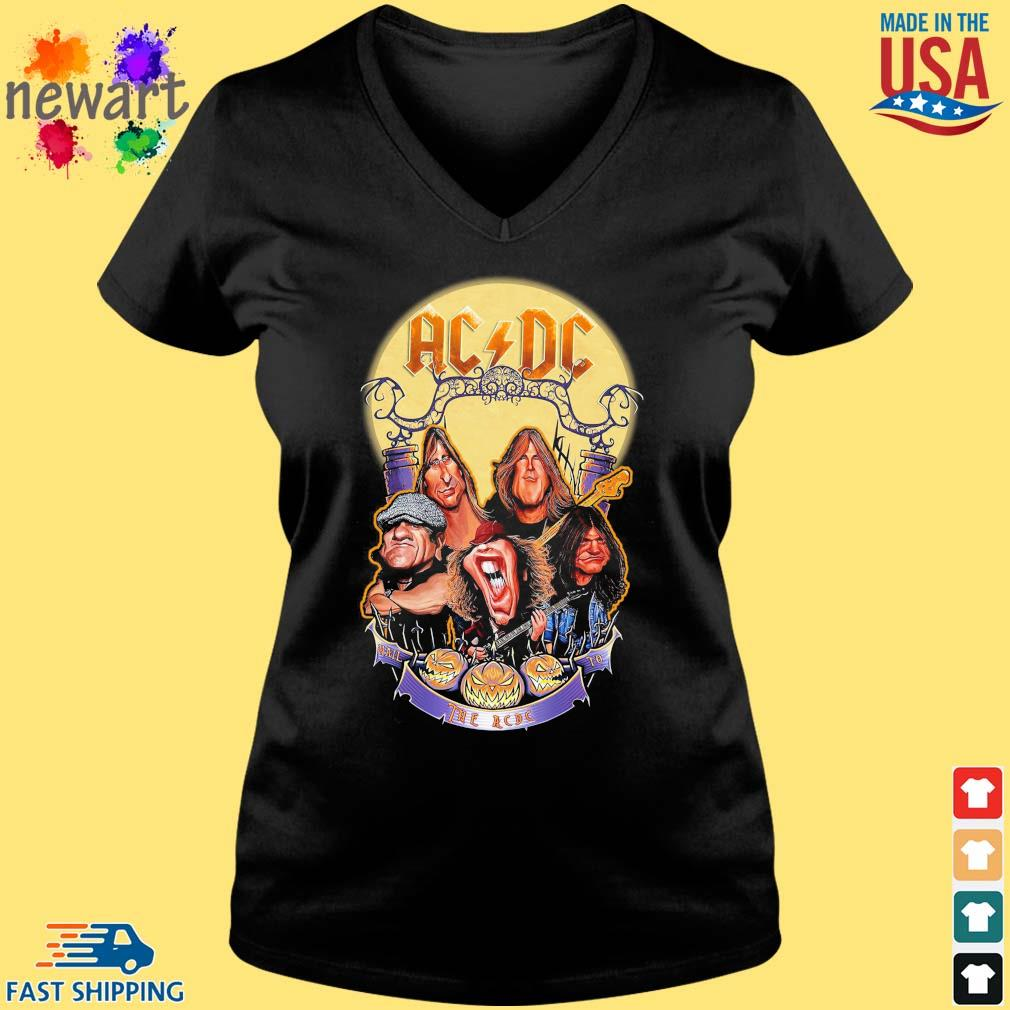AC DC Heavy Metal Music Band band hail the AC DC to Halloween s Vneck den