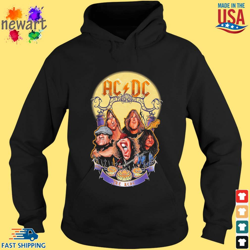 AC DC Heavy Metal Music Band band hail the AC DC to Halloween s hoodie den