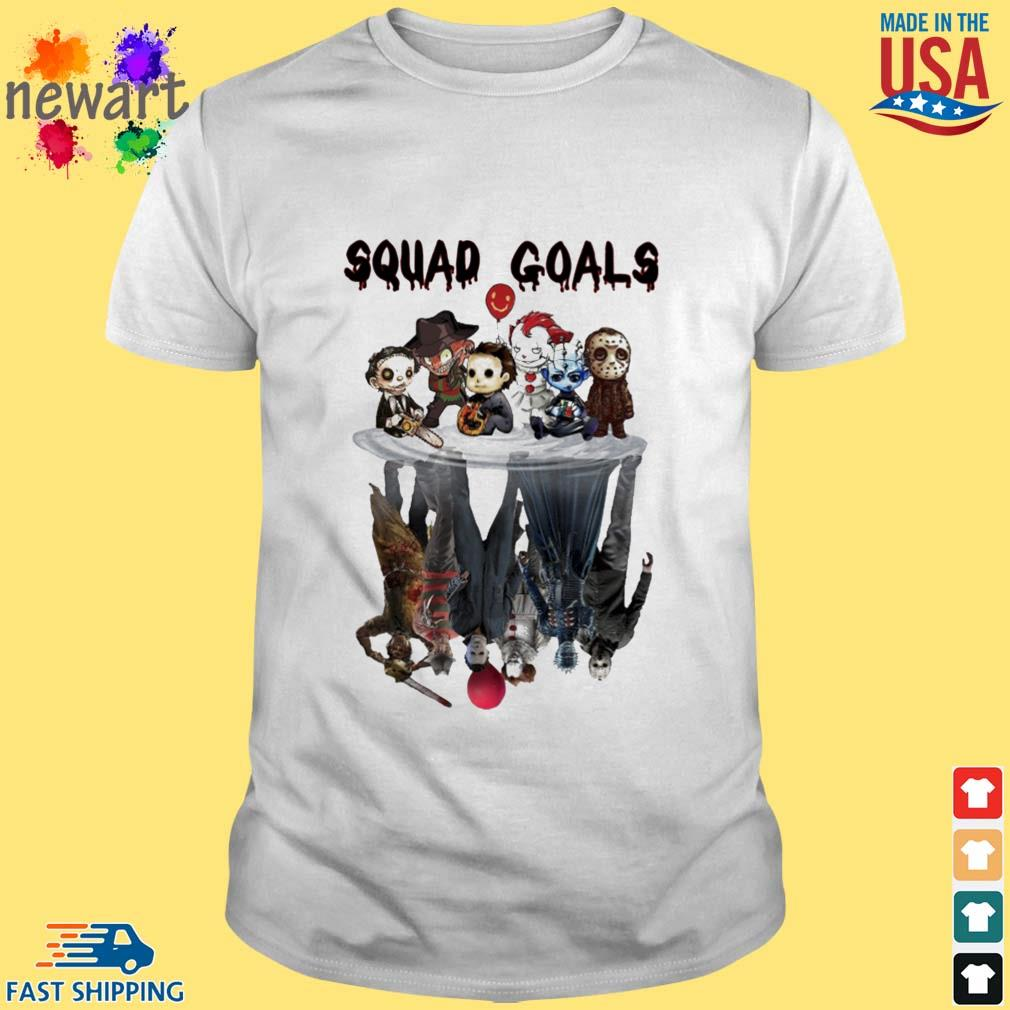 Horror Character Squad goals water mirror reflection Halloween shirt