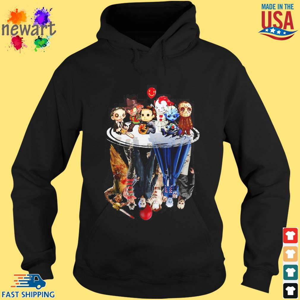 Horror Character water reflection s hoodie den