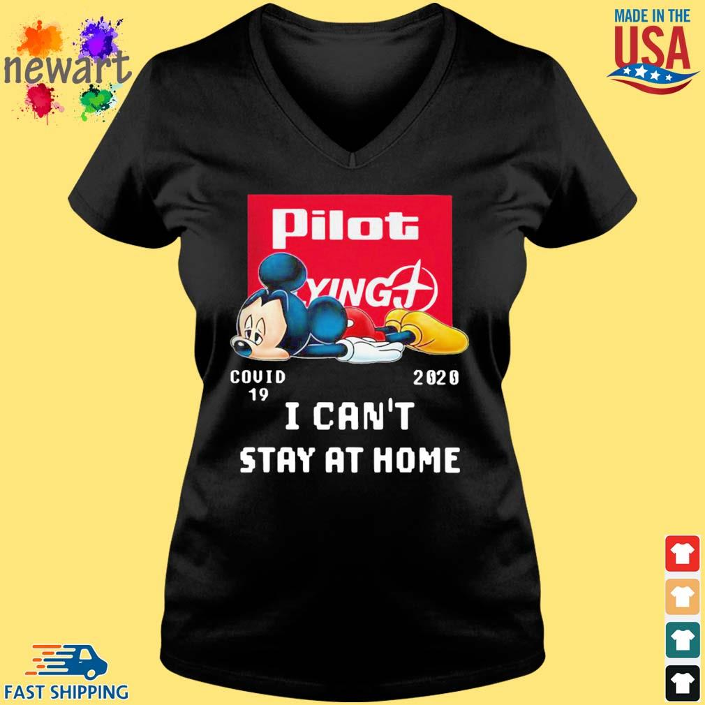 Mickey Mouse Pilot Flying J Covid 19 2020 I Can't Stay At Home Shirt Vneck den