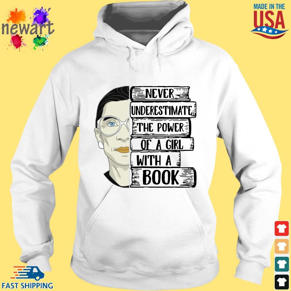 Ruth Bader Ginsburg RBG never underestimate the power of a girl with a book s hoodie trang