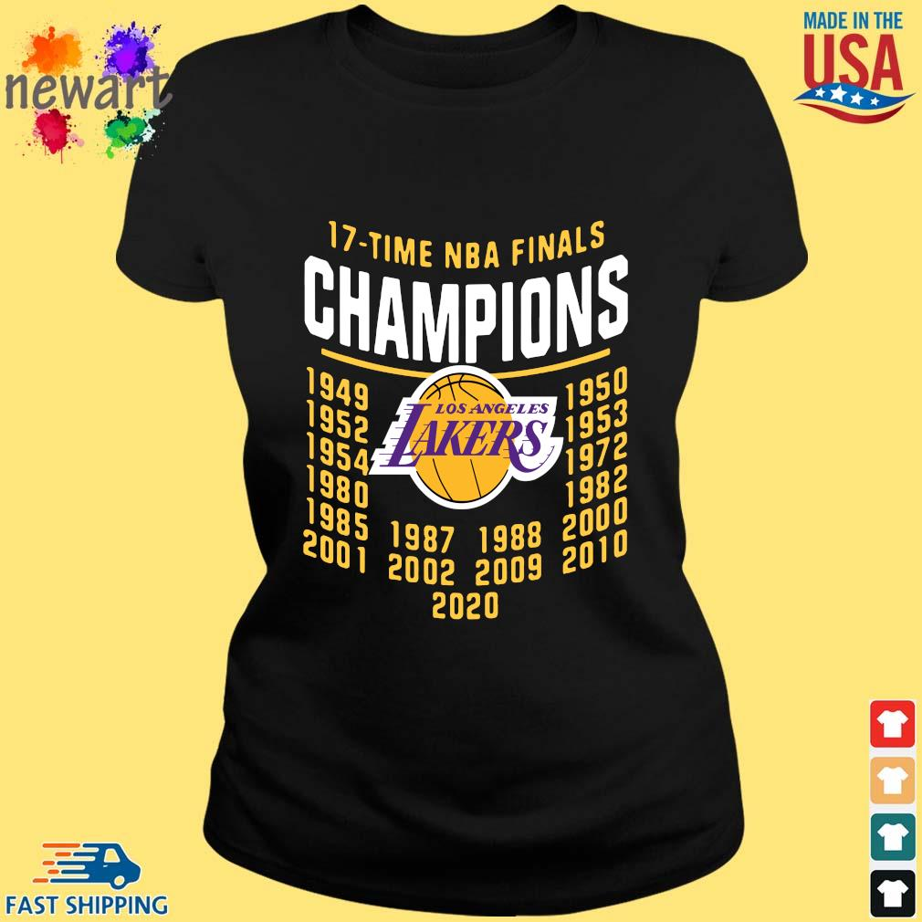 17 Time NBA Finals Champions Los Angeles Lakers Shirt ladies den