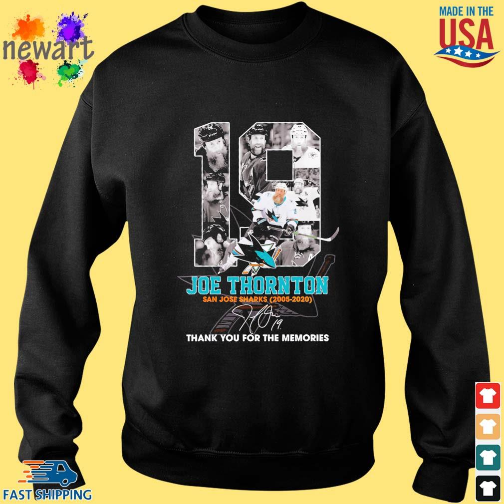 19 Joe Thornton San Jose Sharks 2005-2020 thank you for the memories signature s Sweater den