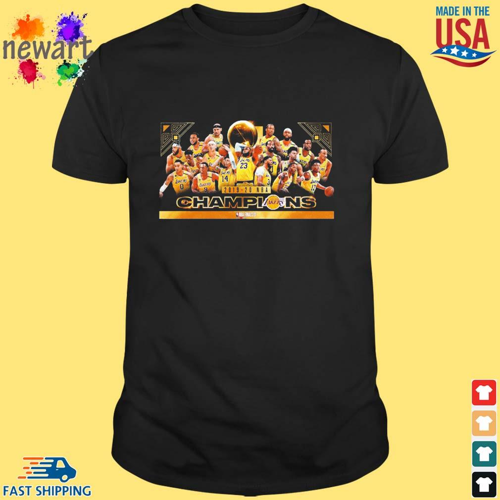 2019-2020 NBA finals Los Angeles Lakers Champions shirt