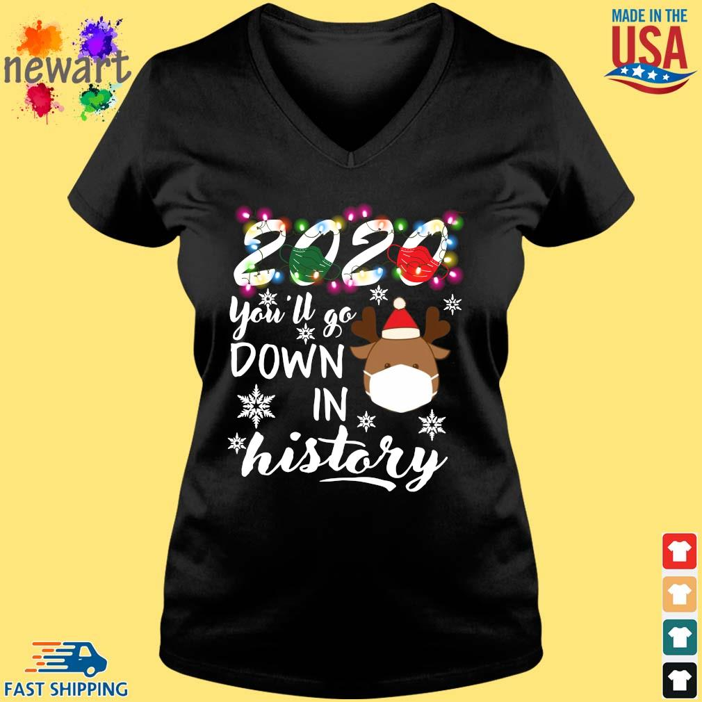 2020 Face Mask You'll Go Down In History Christmas 2020 Sweater Vneck den