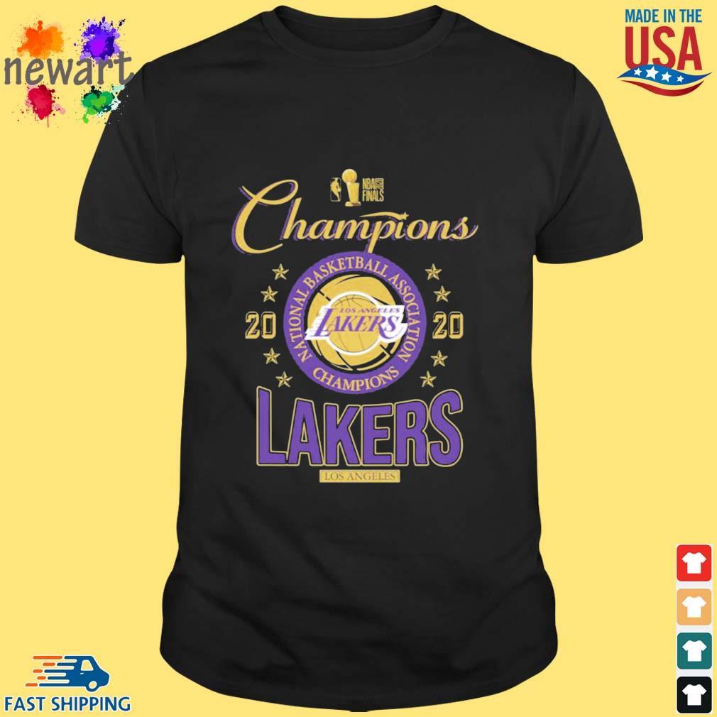 2020 Los Angeles Lakers national basketball association Champions shirt