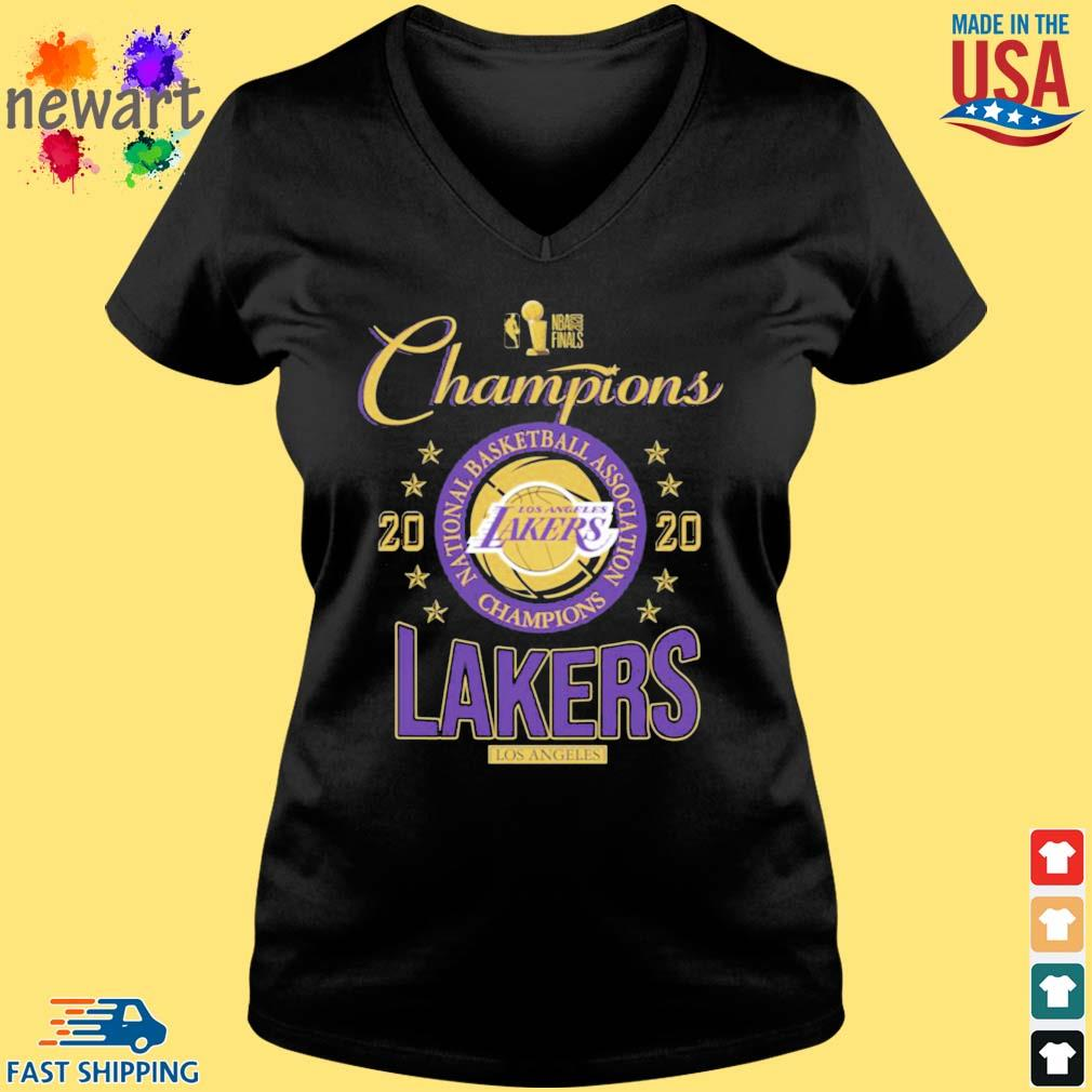 2020 Los Angeles Lakers national basketball association Champions s Vneck den