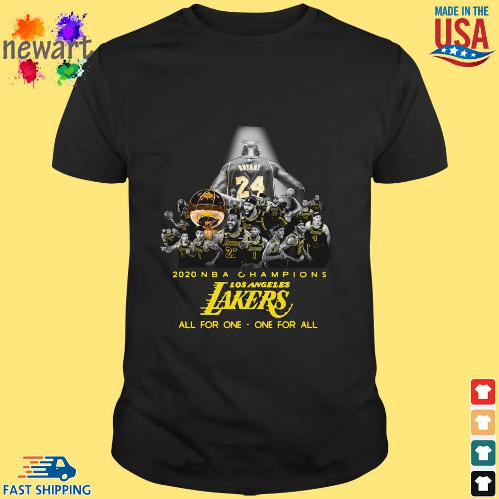 2020 NBA Champions Los ANgeles Lakers all for the one one for all shirt