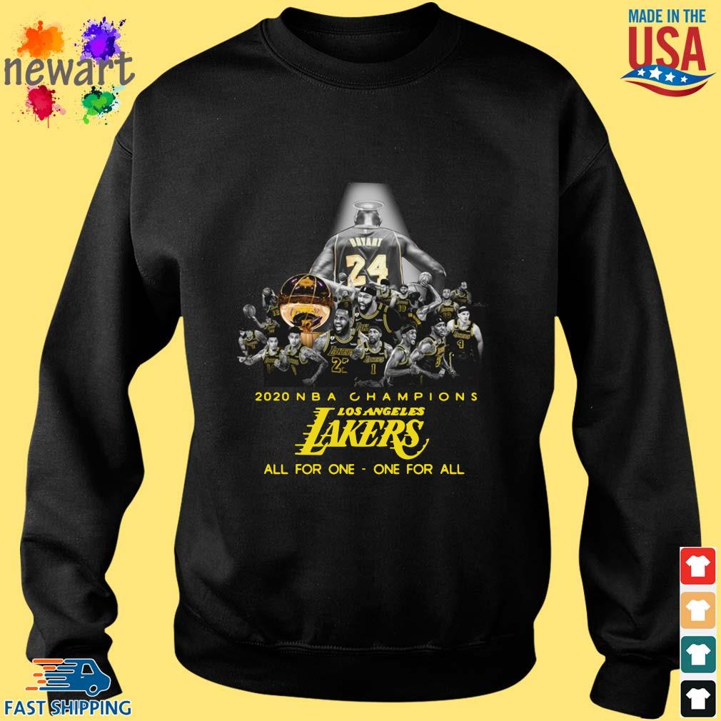 2020 NBA Champions Los ANgeles Lakers all for the one one for all s Sweater den