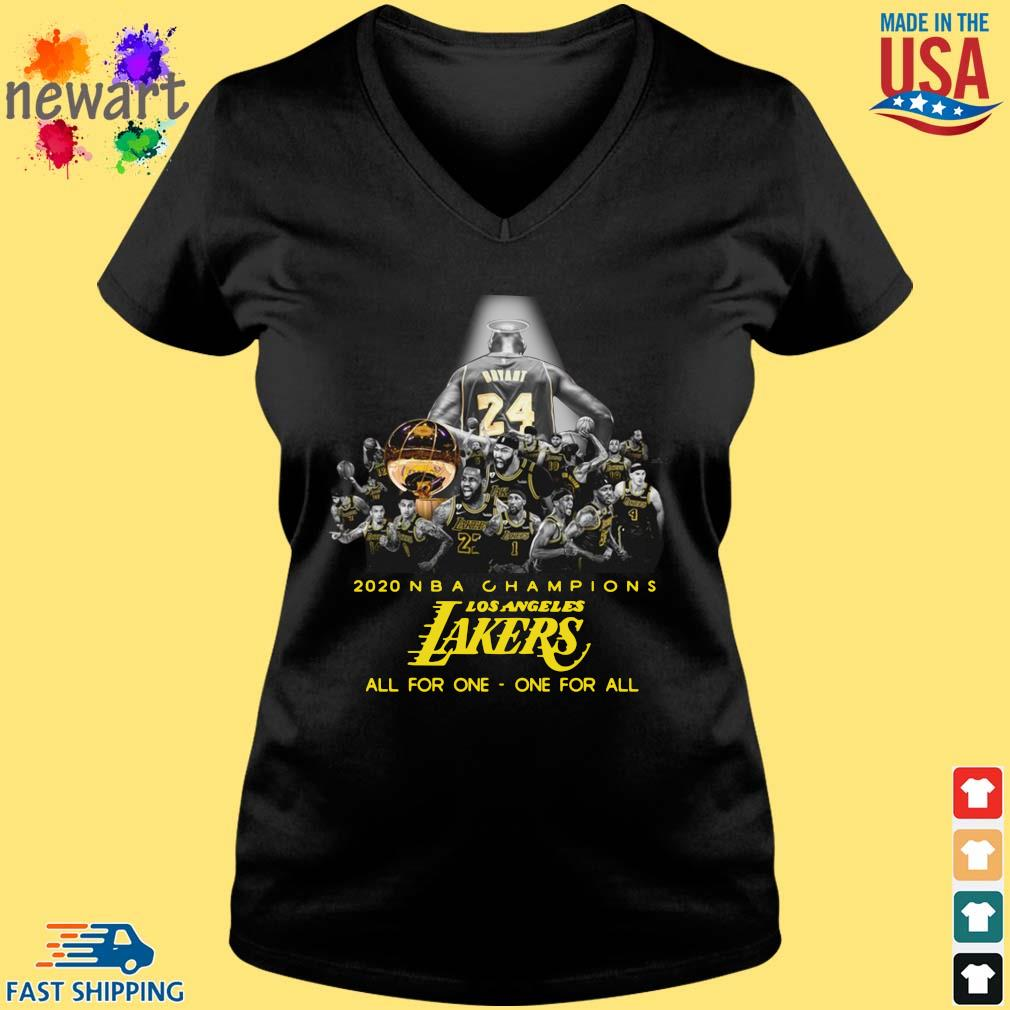 2020 NBA Champions Los ANgeles Lakers all for the one one for all s Vneck den