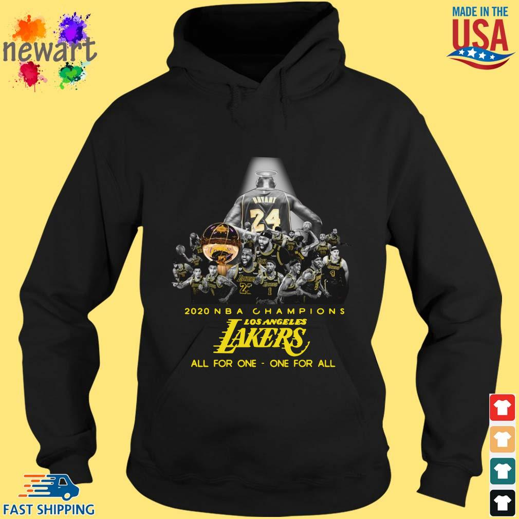 2020 NBA Champions Los ANgeles Lakers all for the one one for all s hoodie den