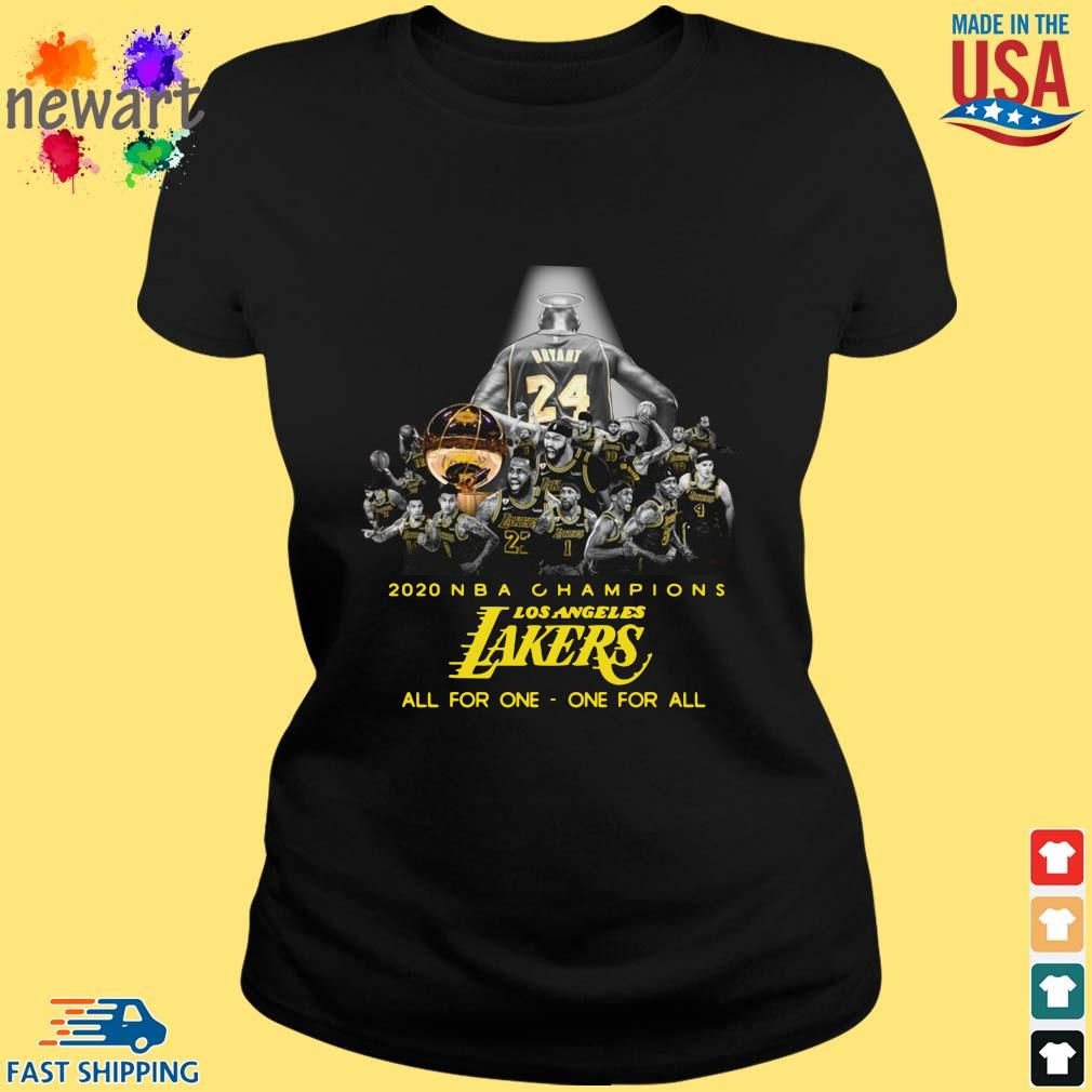 2020 NBA Champions Los ANgeles Lakers all for the one one for all s ladies den