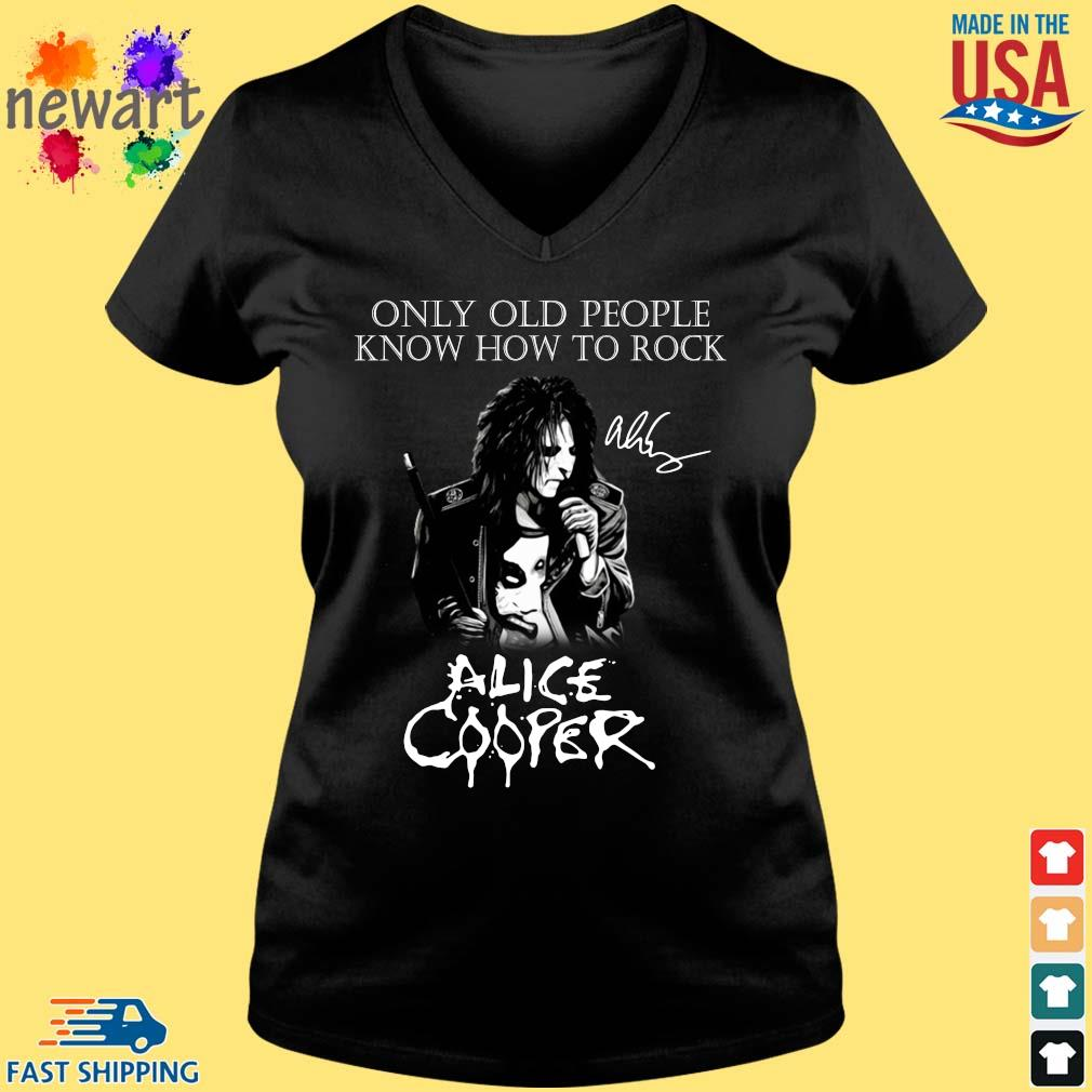 Alice Cooper only old people know how to rock signature s Vneck den