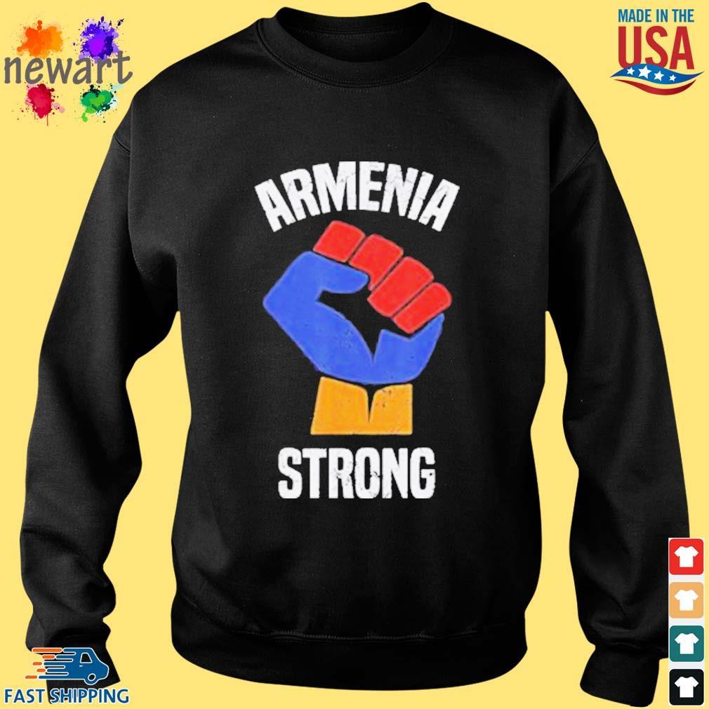 Armenia Strong Shirt Artsakh Republic Defend Armenian Fist Shirt Sweater den